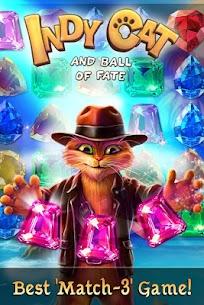 Indy Cat – Match 3 MOD (Unlimited Lives) 1