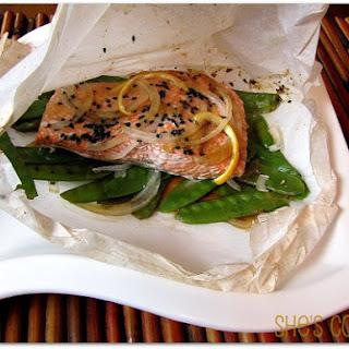 Sesame Salmon En Papillote