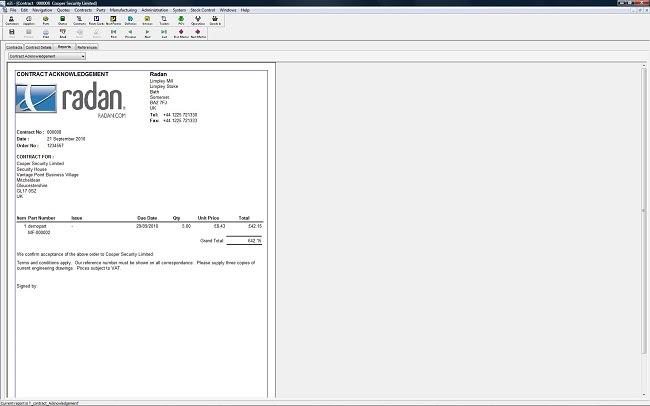 Radquote - функционал модуля управления заказами и логистики Radmanager для подсчета стоимости операций по раскрою и обработке листового металла