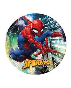 Tallrik, Spiderman 8st 23cm