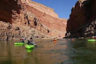 Photo: Canyon walls rise