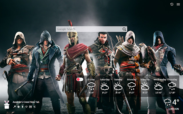 Assassin's Creed New Tab, Wallpapers HD