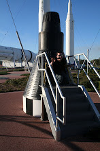 Photo: Trevor inside a return space capsule