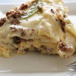 Philly Cheesesteak Lasagna.