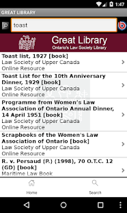 Ontario's Law Society Library- screenshot thumbnail