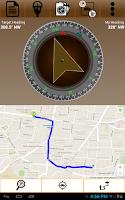 Screenshot of GPS Driving Route