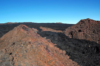 Photo: Lava even breached its walls and filled its crater.