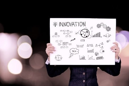 Stock image of innovation poster