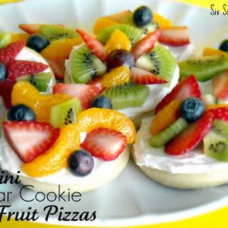 Mini Sugar Cookie Fruit Pizza.