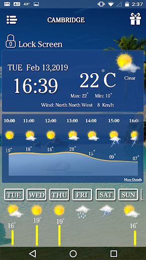 Screenshot for Real Time Live weather Forecast & Weather Alerts in United States Play Store