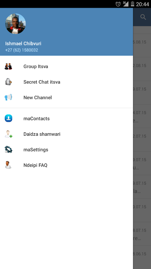 Ndeipi Messenger- screenshot