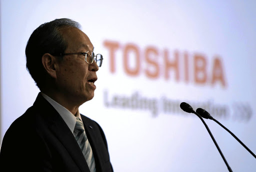 Toshiba CEO Satoshi Tsunakawa attends a news conference at the company's headquarters in Tokyo, Japan, on August 10 2017. Picture: REUTERS