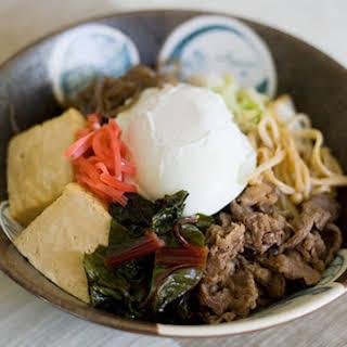 Sukiyaki Don (Sukiyaki on Rice).