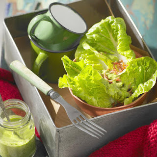 Romaine and Bacon Salad with Herb Dressing