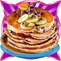 Pancake maker kids bake shop icon