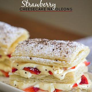 Strawberry Cheesecake Napoleon.