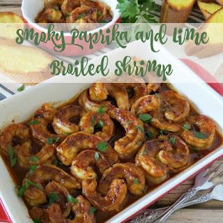 Smoky Paprika and Lime Broiled Shrimp.
