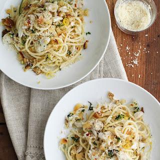 Crab Spaghetti with Lemon Gremolata.