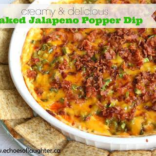 Baked Jalapeno Popper Dip.