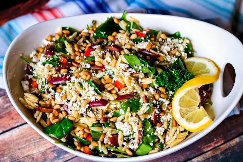 Orzo and Spinach Salad