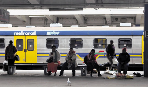 Commuters wait for trains at Cape Town station. Picture: SHELLEY CHRISTIANS/THE TIMES