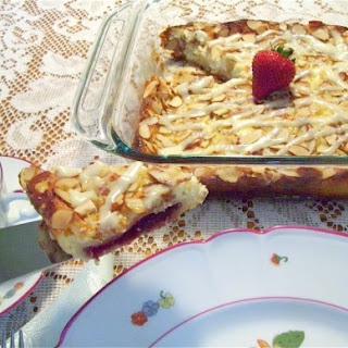 Raspberry Almond Cream Coffee Cake