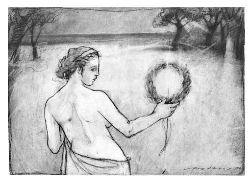 Arianna con corona - Disegno di Andrea Mattiussi