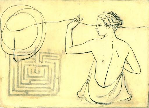 Arianna e il labirinto - Disegno di Andrea Mattiussi