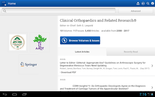 Clinical Orthopaedics and Related Research®- screenshot thumbnail