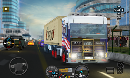 Euro Truck 3D Simulator 2019 Cargo Truck Transport 1.8 Mod + Data Download 3