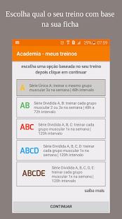 Academia - meus treinos (Ficha academia) - náhled