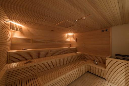 The sauna in the MSC Aurea Spa on MSC Meraviglia.