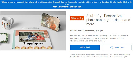 Some Amex Offers Now Have Shareable Links