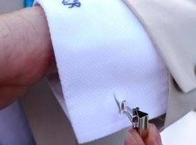 Emergency cuff links -- must use small ones for this, medium's are too big