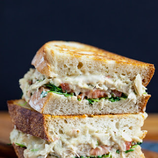 "Jackfruit ""Tuna"" Melt Sandwich."