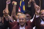 廢祝馬來西亞在野黨變執政黨,有利民主化