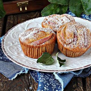 Healthy Cinnamon Apple Bran Muffins.