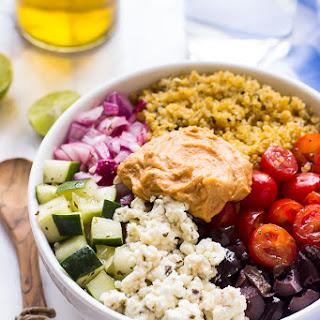 Mediterranean Quinoa Salad Bowl.