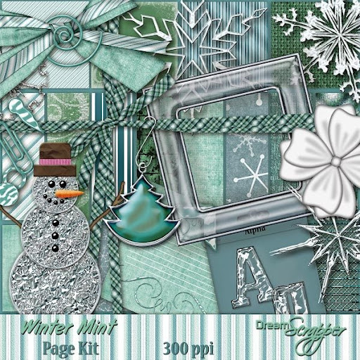 Winter Mint Page Kit