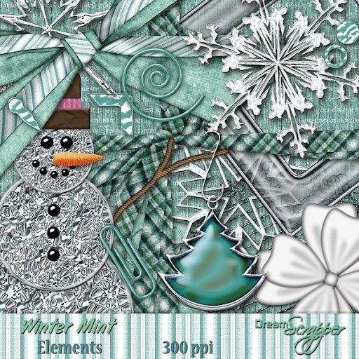 Winter Mint Elements