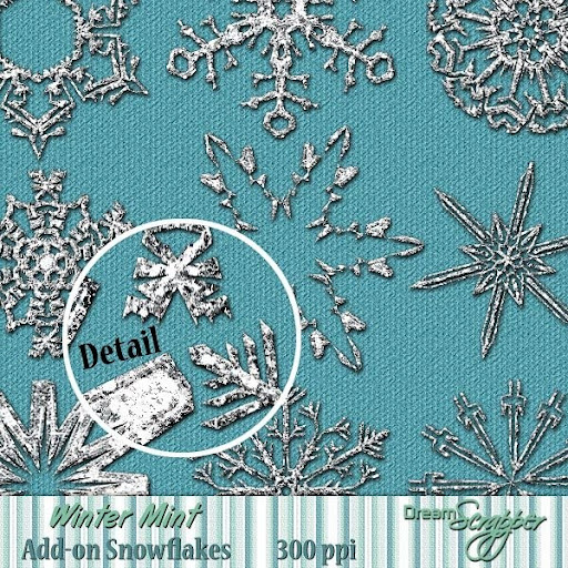 Winter Mint Add-on Snowflakes