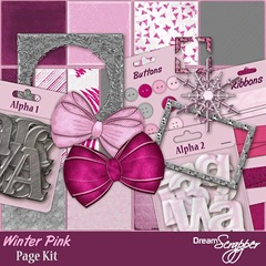 Winter Pink Page Kit