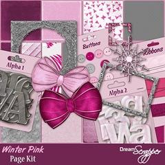 Winter Pink Page Kit