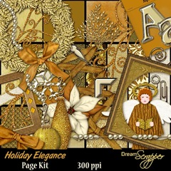 Holiday Elegance Page Kit