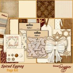 Spiced Eggnog Page Kit