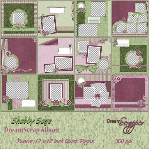Shabby Sage Dream Scraps Album