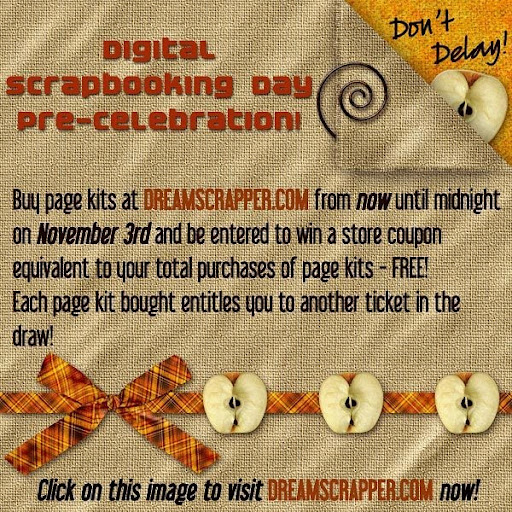 Digital Scrapbooking Day Pre-celebration Ad