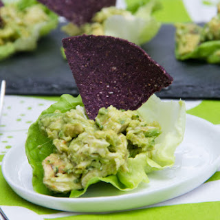 Guacamole Chicken Lettuce Wraps.