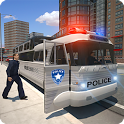 Police bus prison transport 3D icon
