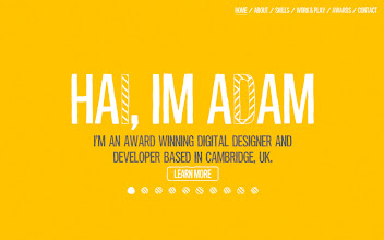 Photo: Site of the Day 9 May 2013 http://www.awwwards.com/web-design-awards/adam-hartwig